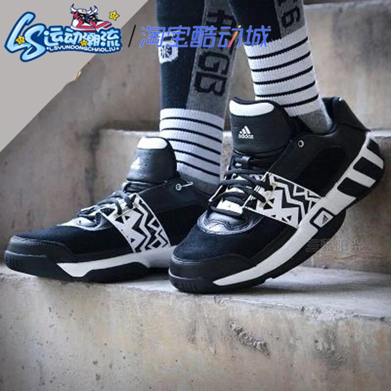 阿迪达斯阿里纳斯黑白太极经典实战低帮团队篮球鞋男BY4570C75153