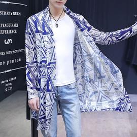 男士防晒衣服夏季超薄款韩版宽松长袖披风衣潮流帅气个性外套镂空图片