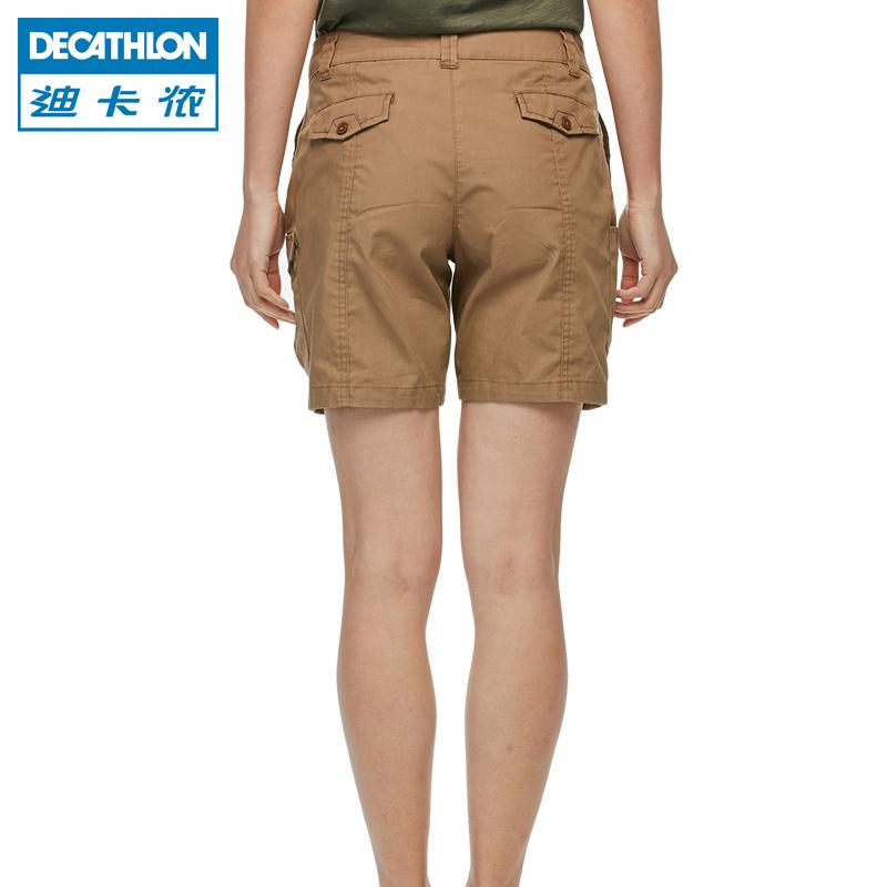 迪卡侬 户外休闲短裤女士登山徒步旅行舒适短裤 FOR1