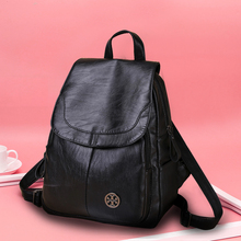 Regret the New Type of Baitao Soft Leather Bag with Large Capacity Backpack for Women in Spring and Summer