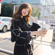 赫本风毛呢外套女中长款秋冬装加厚韩版学生时尚森系过膝呢子大衣