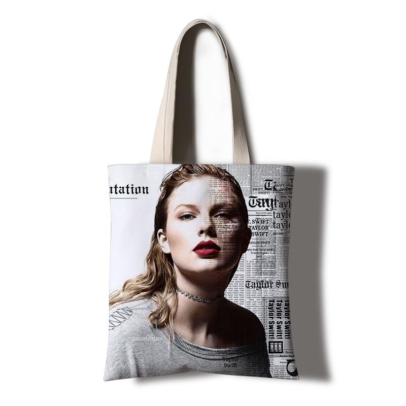 新专辑定制礼物 Swift泰勒斯威夫特周边手提帆布袋霉霉同款 Taylor
