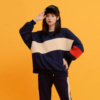Plus cashmere sports leisure suit female winter 2018 new student loose sportswear thick sweater two-piece winter clothing