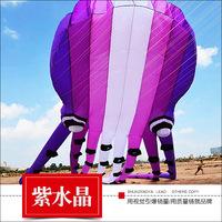 潍坊风筝天际紫水晶大型软体章鱼成人风筝线轮微风易飞T11