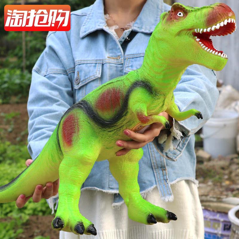仿真软胶大号恐龙玩具电动霸王龙动物模型超大套装塑胶儿童61男孩