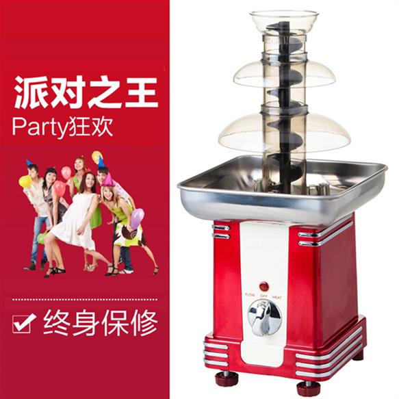 迷你三层巧克力喷泉机融化机火锅瀑布机家用商用创意春节生日礼物