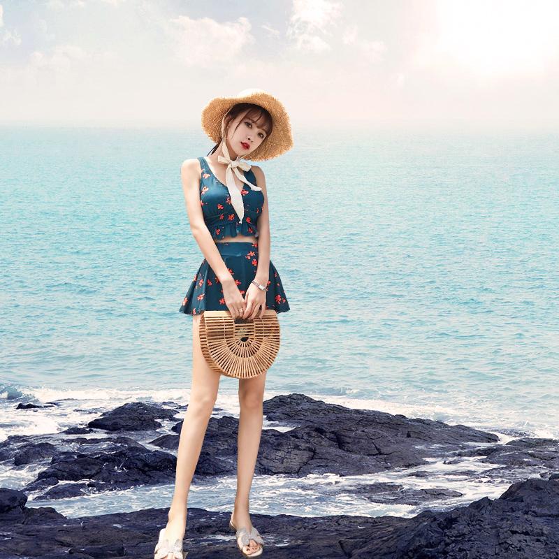 泳衣女性感分体2019新款爆款韩国ins风遮肚显瘦比基尼仙女范游泳