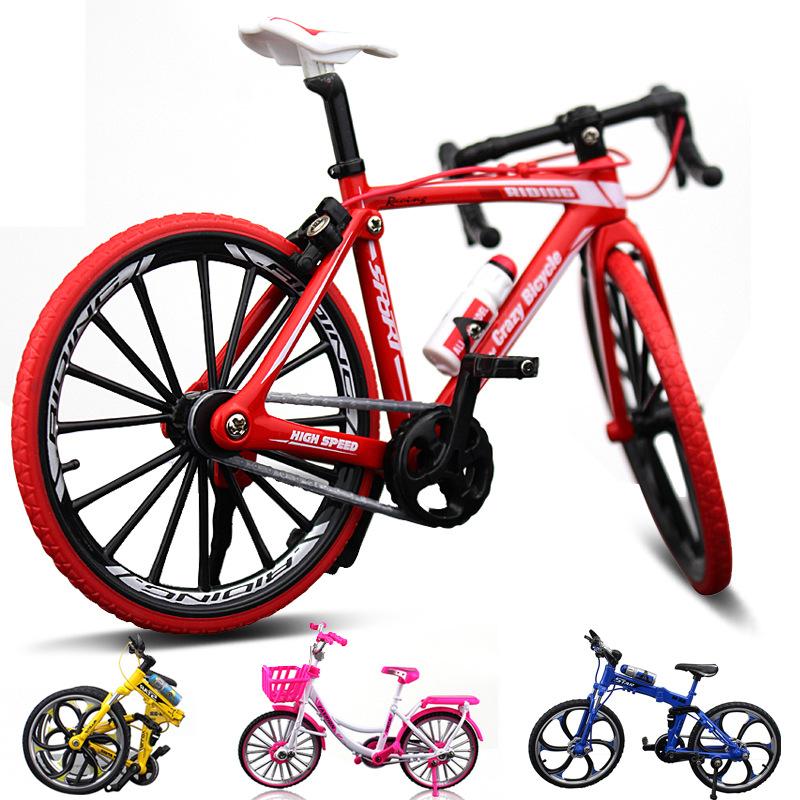 上新跨境创意合金模型自行车摆件 迷你单车玩具礼品自行车模型