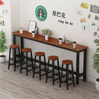 吧台桌家用隔断长桌子餐桌高脚桌椅组合奶茶店细长条桌靠墙窄桌子