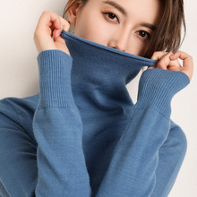 2018 autumn and winter new pile of collar sweaters women's high collar long-sleeved head Slim sweater women's shirt