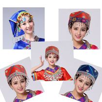 New Miao Yi Tujia Zhuang dong ethnic minority dance hat childrens headwear adult female