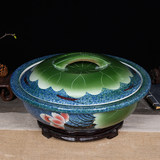Jingdezhen ceramic and noodle basin basin with old-fashioned with cover large plus thick wash basin kitchen storage tank