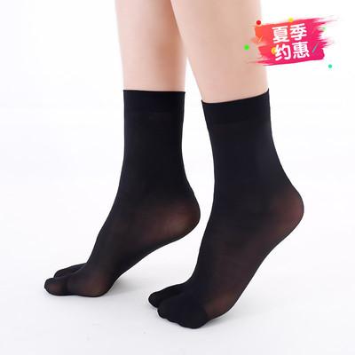 两指夹拖袜 男女短丝袜子 两趾袜 分趾短袜 五趾袜薄款氨纶木屐袜