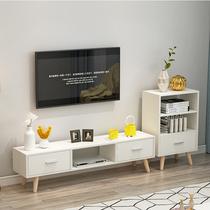 米小户型客厅地柜创意矮柜1.8日式纯实木电视柜简约白橡木胡桃木