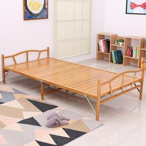 竹床可折叠楠竹板床1.2米双人成人单人床午休午睡凉竹子小床家用