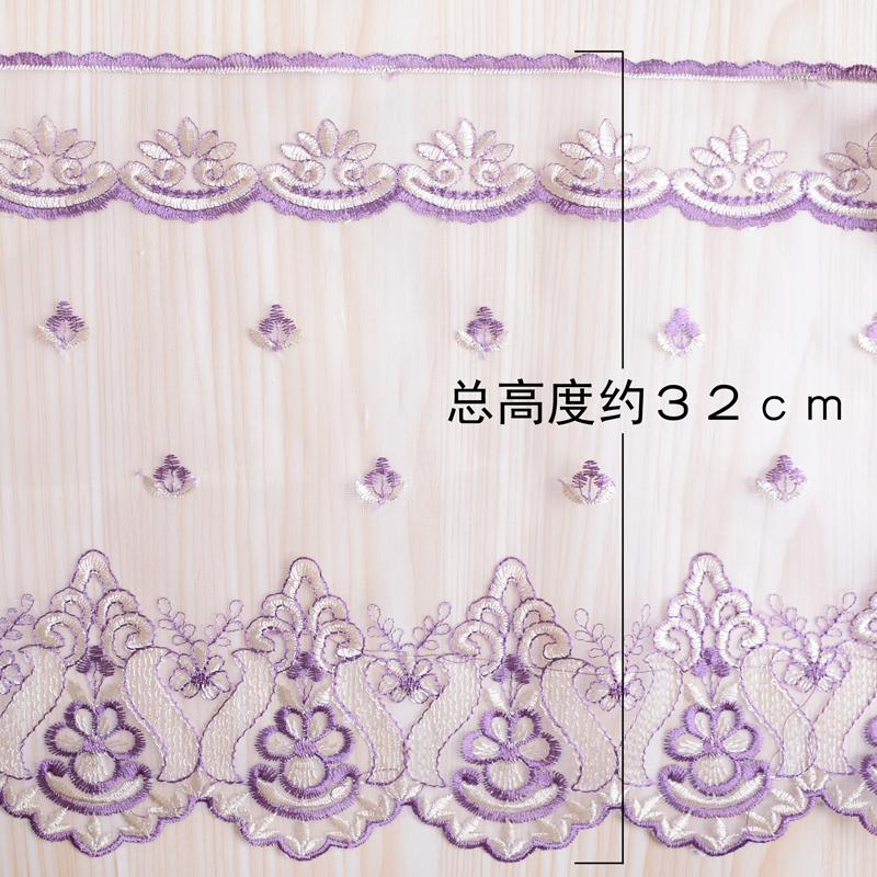 蕾丝花边 网纱刺绣裙摆衣边床边手工制作辅料窗帘花边32公分M-858