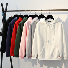 Spring men's hooded sweater casual solid color white black hooded head couple couple men's caps jacket tide