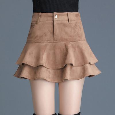 冬季半身裙短裙荷叶边2018新款层层蛋糕裙大码蓬蓬裙裙子女冬裙