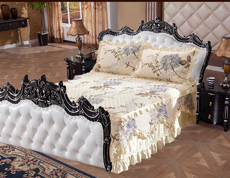 田园夹棉床罩
