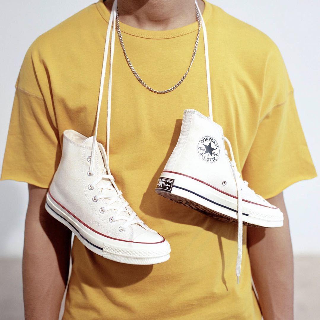 Converse匡威1970s三星标米白色高帮低帮男女帆布鞋162053 162062