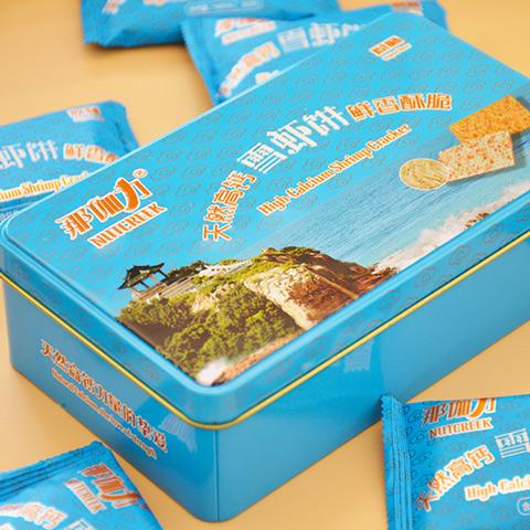 天然高钙雪虾饼无添加蔗糖老人小孩孕妇零食休闲小吃不上火2礼盒