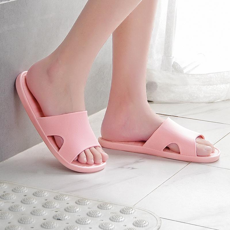 家用室内软底拖鞋浴室洗澡防滑拖鞋冲凉鞋男女情侣夏季一字凉拖鞋