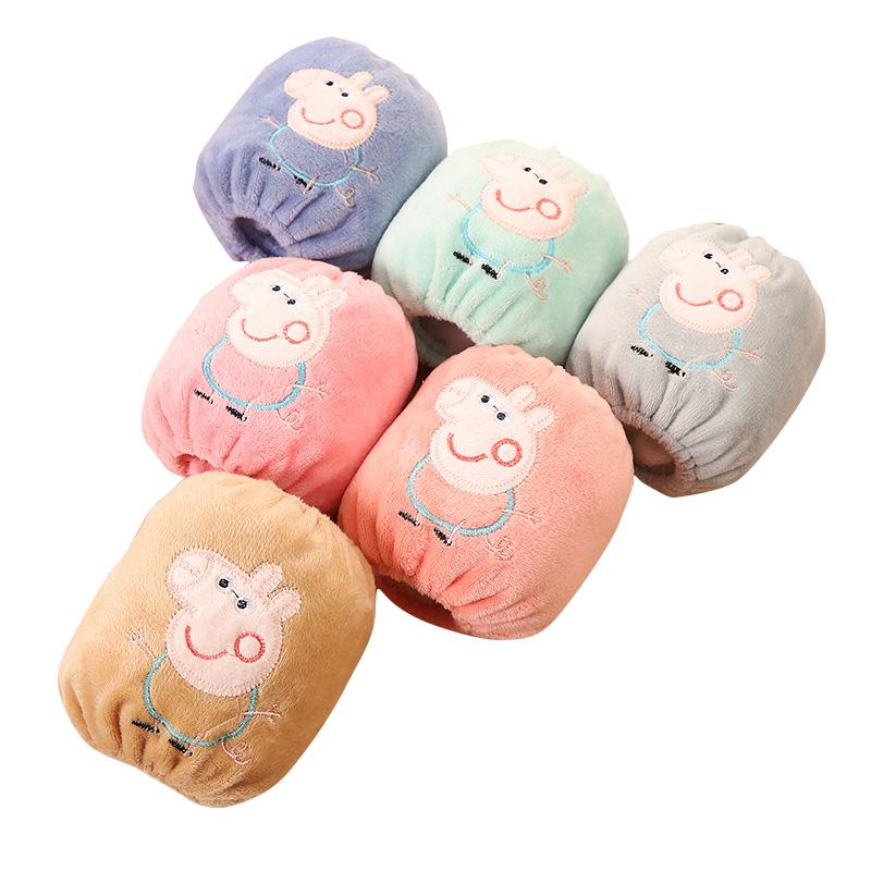 春秋季可爱卡通绒面保暖儿童袖套短款宝宝护袖婴幼儿儿童小孩套袖