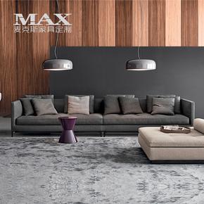北欧设计师皮沙发小户型创意铁艺真皮沙发办公皮沙发客厅组合沙发