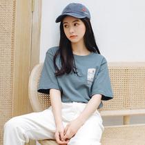 纯棉短袖T恤女士2019新款韩版学生ins潮宽松超火cec上衣女装夏装