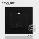 Access switch socket panel pure black 86 type gated switch door-to-door switch door-to-door button door button wall panel