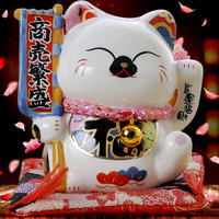 Gold Stone Workshop Lucky Cat Car Decoration Car Accessories Mini Desk Piggy Bank Creative Christmas Gift