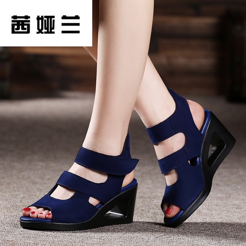 磨砂牛皮高跟女鞋