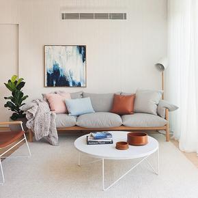 北欧小户型布艺沙发创意简约现代沙发别墅休闲羽绒乳胶实木沙发