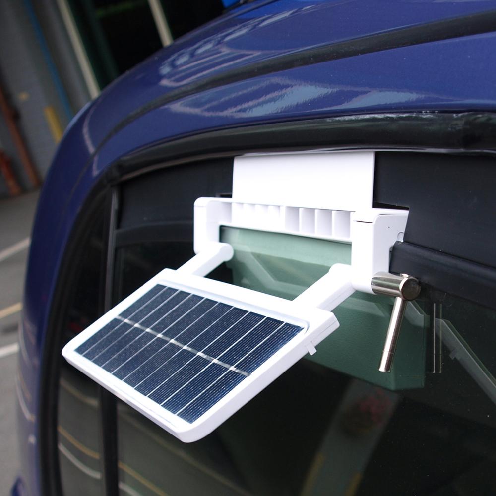 安伯特高档太阳能汽车车载排气扇 降温器换气扇空气散热器排风扇