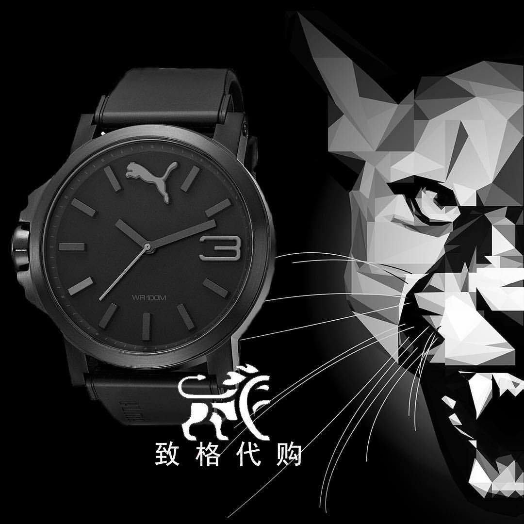 美国代购 彪马时尚男表 Puma大表盘运动腕表 正品男士防水手表