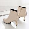 春季短靴白色