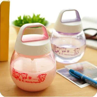 富光QQ太空杯 360ml矮胖型时尚创意女士儿童防摔pc型水杯塑料杯子