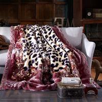 苏娜国际 加厚双层毛毯 秋冬保暖拉舍尔毛毯 珊瑚绒毯子懒人毛毯