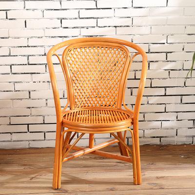 印尼进口真藤条手工网格坐椅藤椅茶楼椅办公椅子阳台户外休闲椅