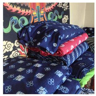 云南大理高贵典雅扎染布料桌布窗帘幼儿园背景文化墙装 如是