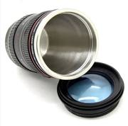 Canon leak-proof lens cup creative personality insulation lens cup SLR camera stainless steel cup