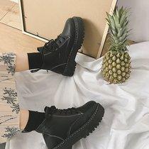 雪地靴女冬短筒韩版百搭学生可爱丝带蝴蝶结防水加厚加绒保暖棉鞋