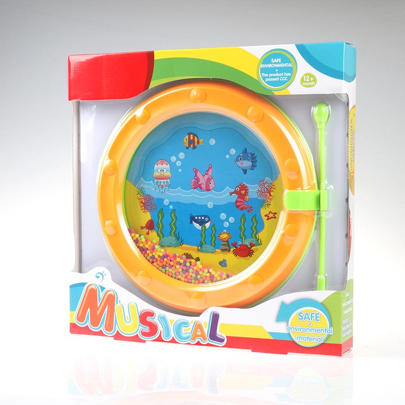 奥尔夫儿童乐器玩具打击乐器铃鼓海浪鼓笼铃沙锤金宝贝拍拍鼓
