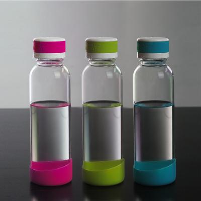 heisou玻璃杯带盖水瓶透明水杯创意便携防漏杯子旅行茶杯