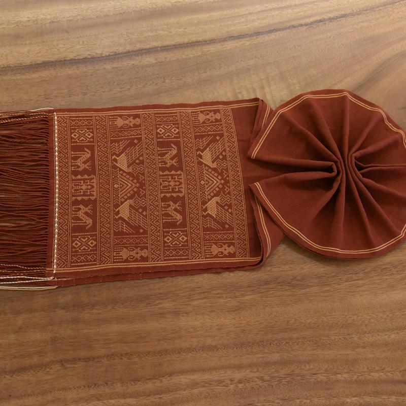 海南五指山民族特色黎锦 美术大师王秀丽作品 手工植物染围巾05款