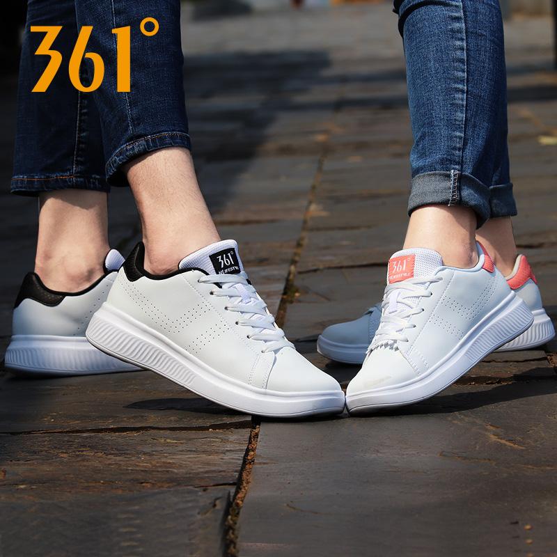 361女鞋板鞋2018秋冬季新款革面小白鞋361度休闲运动鞋女