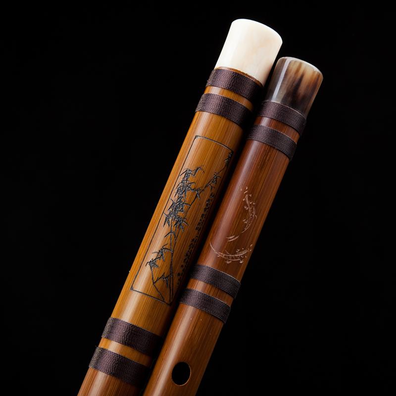 风雅宫王建宏风逸竹笛专业 成人 高档演奏笛子手工雕刻横笛乐器