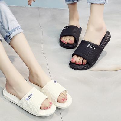 潮凉拖鞋情侣男女夏韩版室内时尚防滑软底舒适居家用洗澡可爱拖鞋
