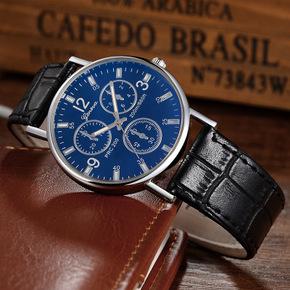 GENEVA蓝光手表男士表皮带中性女表时尚石英手表微商爆款厂家直销