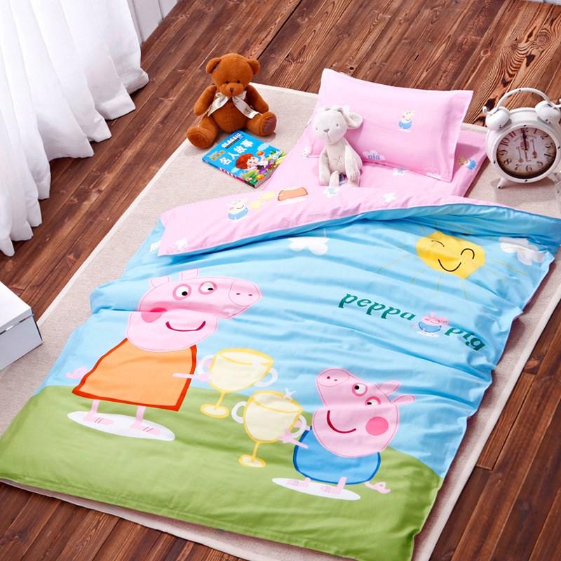 幼儿园被子三件套夏凉儿童被褥纯棉被套宝宝午睡婴儿床品六件套